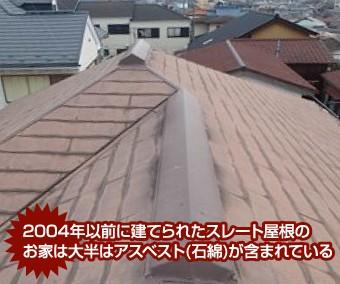 2004年以前のスレート屋根