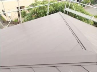 金属屋根でカバー工法施工後
