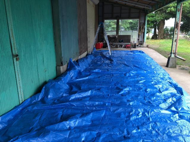 下塗り塗装 養生シート