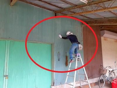 外壁板金のケレン作業