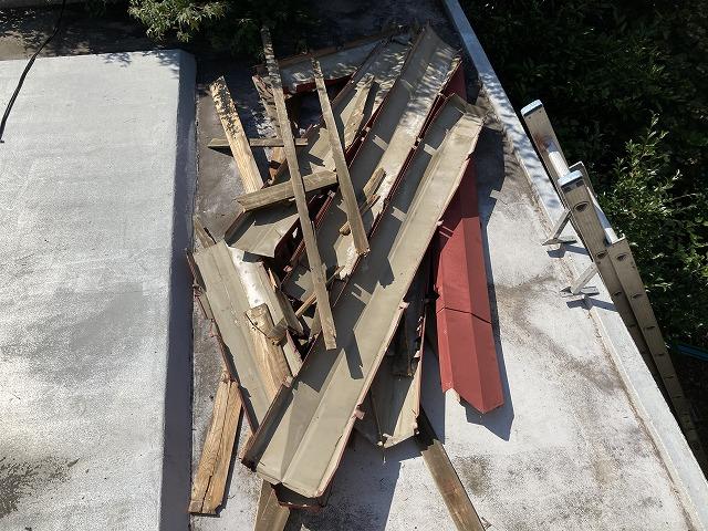 屋根板金残材