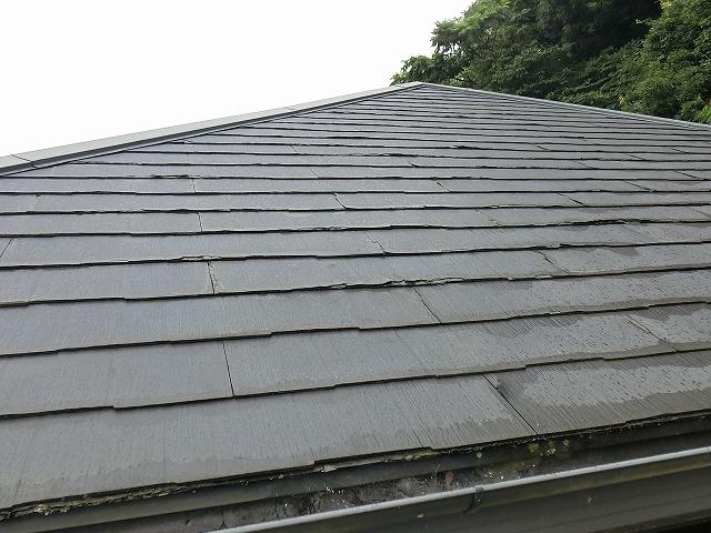 稲敷市で塗装が出来ないパミール屋根材の調査してきました