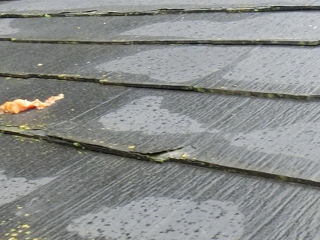 剥がれてしまった屋根材