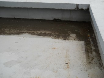 ベランダに溜まった雨水