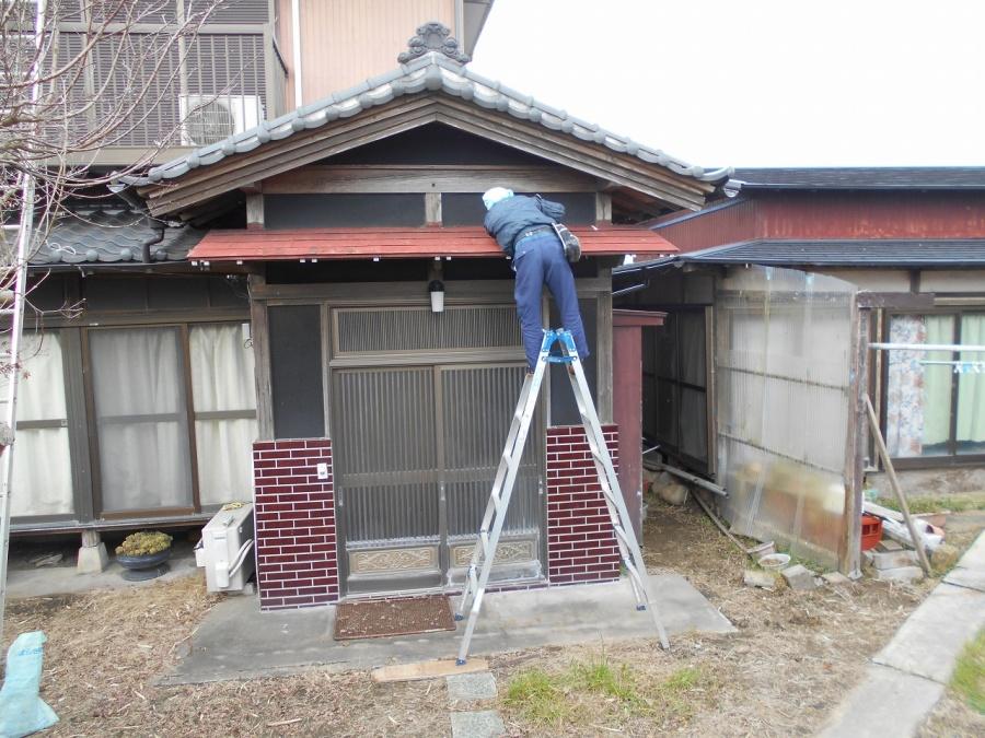 稲敷市のK様から、台風で被害を受けたので修理をお願いします。