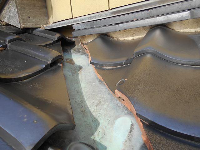 鉾田市のO様から雨漏り修理依頼を受けまして、お伺いしました。