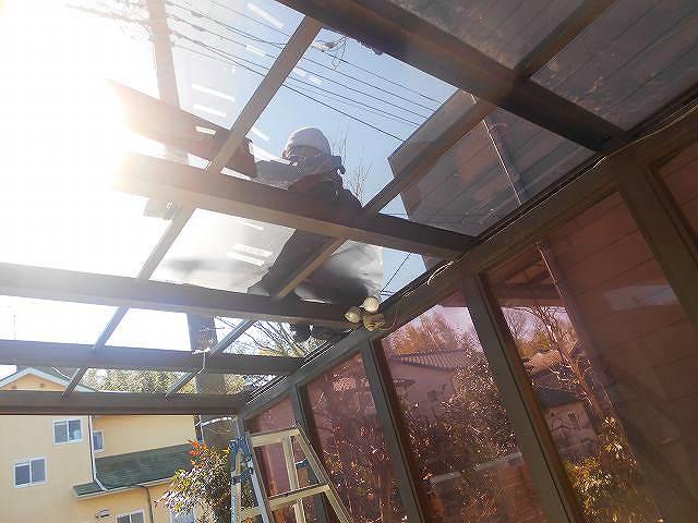 カーポートの屋根葺き替え工事