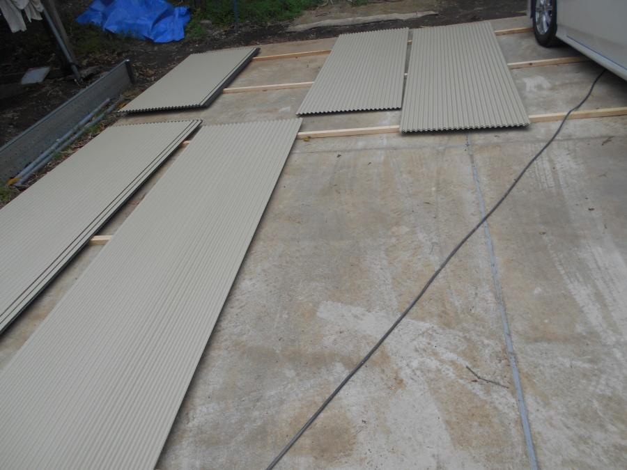 屋根葺き替え工事の6日目
