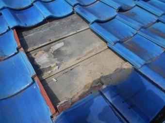 青緑瓦の葺き直し工事