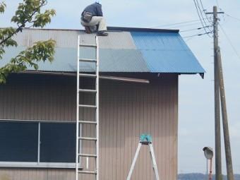 波トタン屋根葺き替え工事