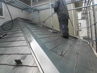 屋根高圧洗浄工事
