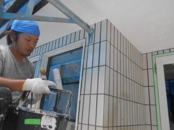 タイル塗装工事