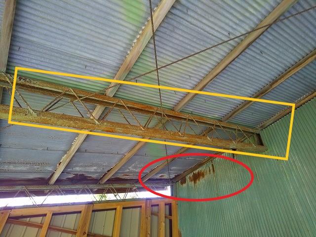 鉄骨の錆 屋根板金塗装