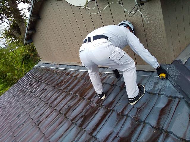 板金屋根の測り出し