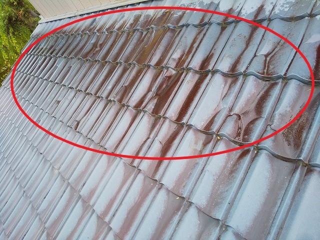 屋根板金の錆 屋根板金塗装