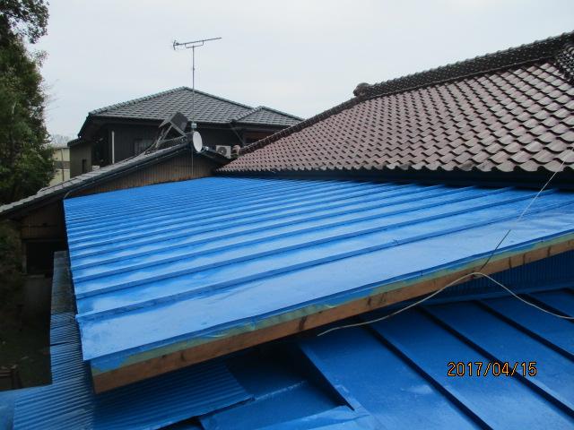 屋根塗装工事2