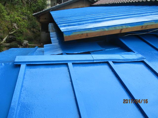屋根塗装工事4