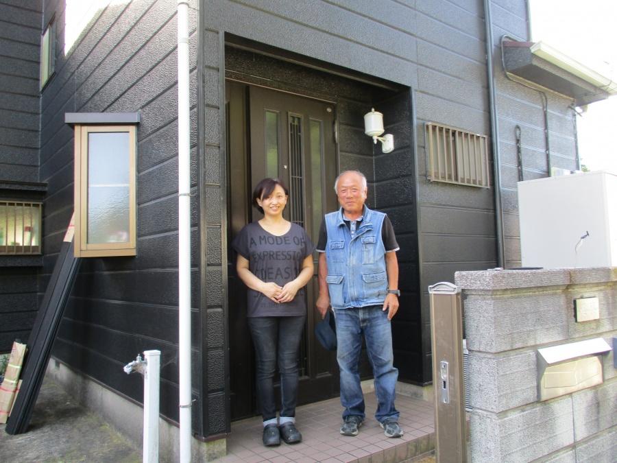 土浦市のM様邸の屋根板金交換前の点検調査でお伺いしました。