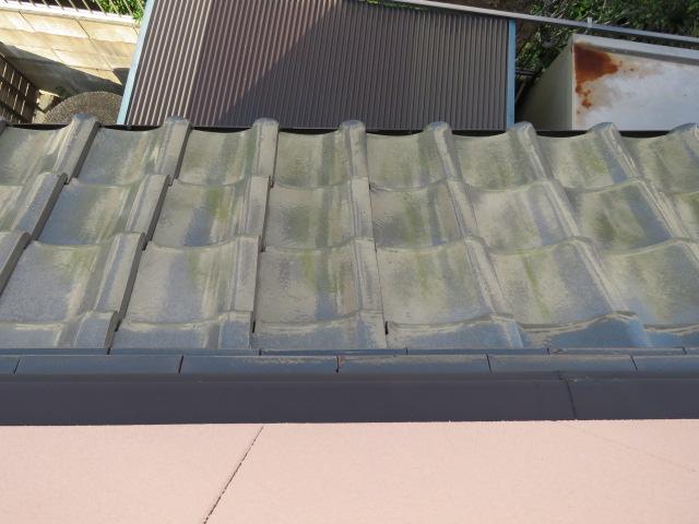 2階の瓦棒屋根の様子