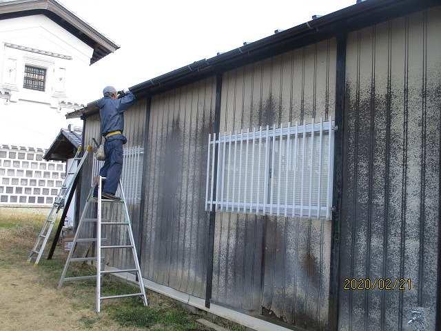 プレハブ小屋の屋根工事