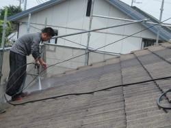 屋根高圧洗浄3