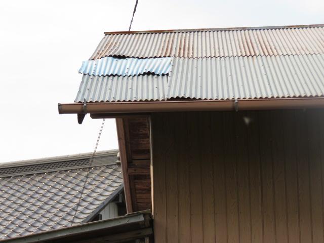 波板トタン被害工事