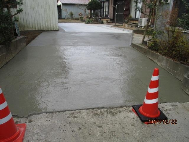 土間コンクリート打設工事