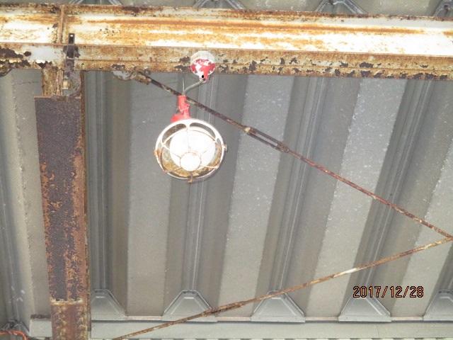 投光器交換工事