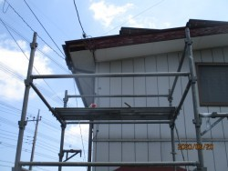 破風板交換工事