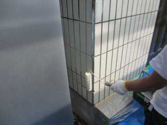 タイル面の塗装