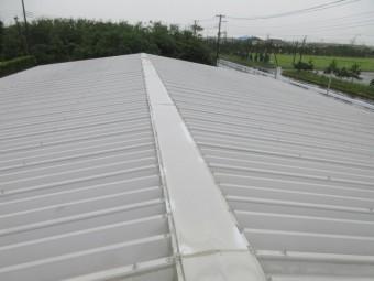 折版屋根の棟