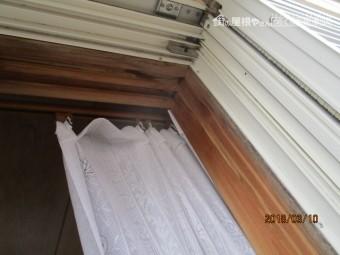窓枠雨漏り