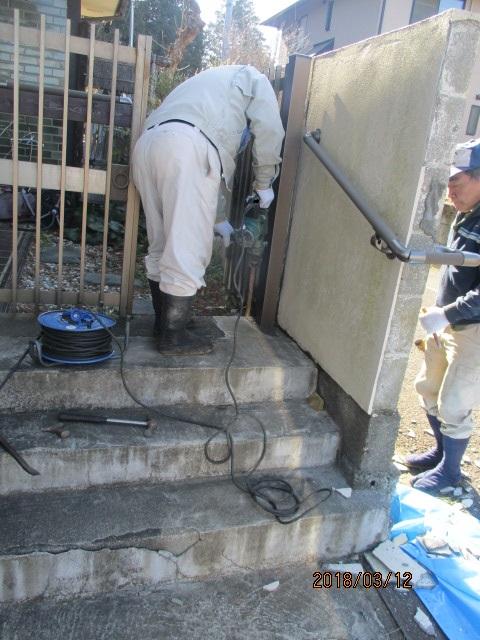 外塀セメント塗替え工事