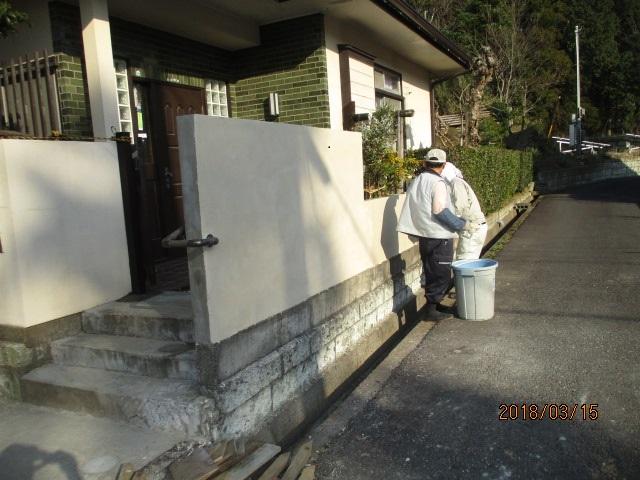 外塀塗替え工事