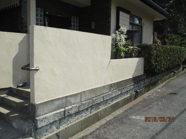外塀セメント塗替え