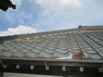 屋根漆喰稲敷6