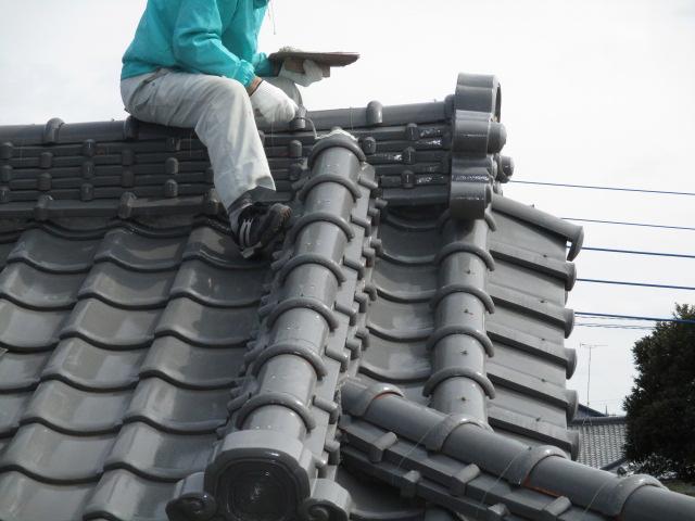 屋根漆喰稲敷