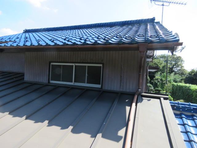 大屋根葺き替え