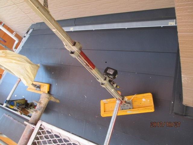 下屋の葺き替え工事