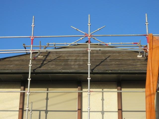 屋根足場架設工事