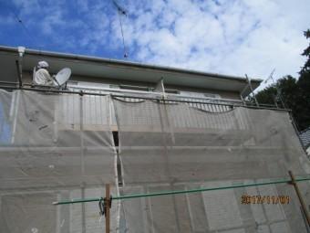 軒天塗装工事1