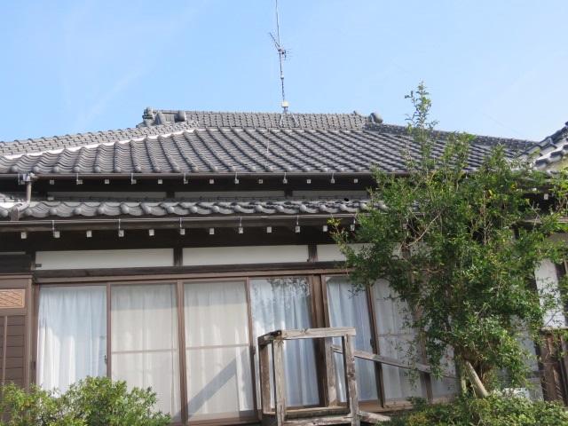 被害を受けた屋根