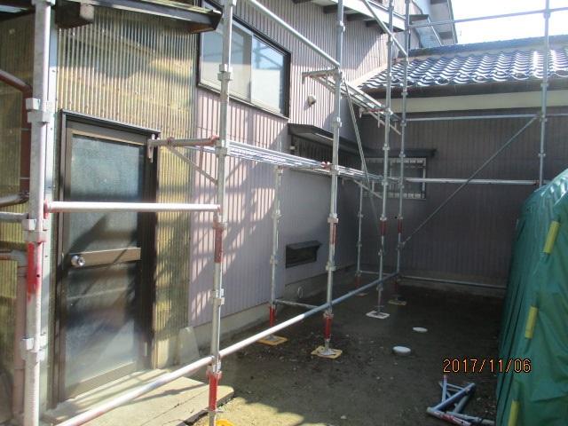 足場架設工事1