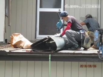 瓦棒屋根撤去工事