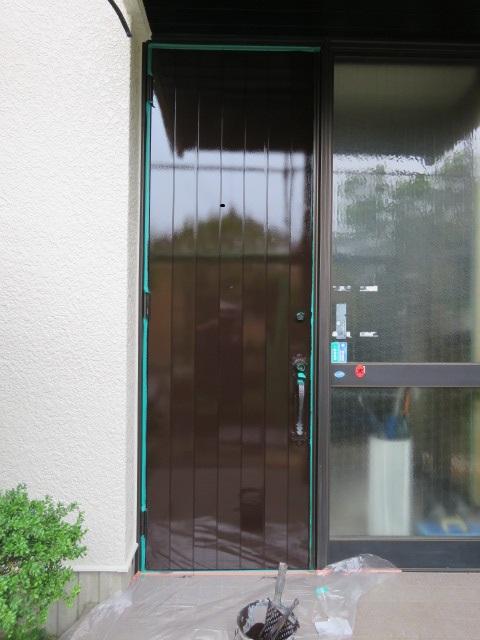 玄関ドアー塗装工事