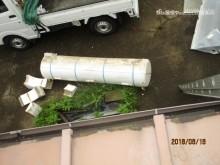 温水器の撤去作業