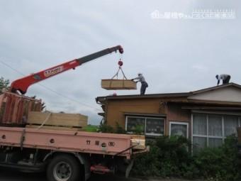 セメント瓦撤去工事