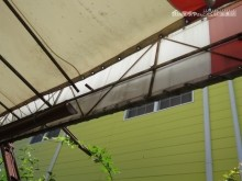 日除けテント被害