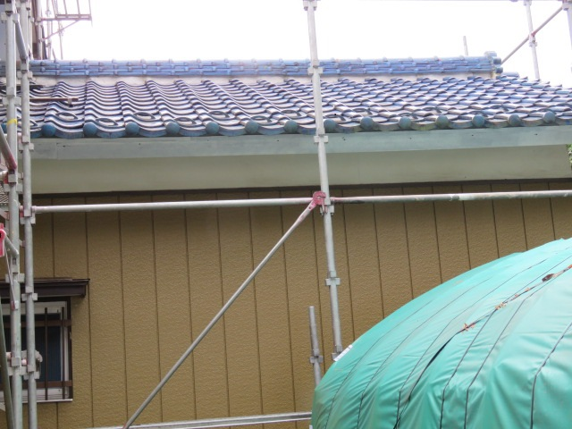 破風塗装工事5
