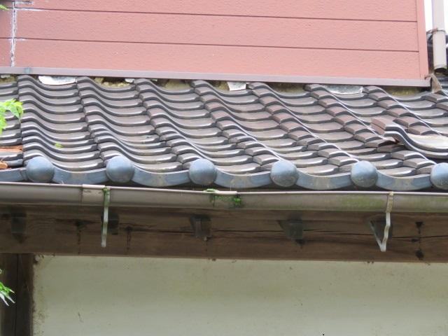 震災被害瓦工事